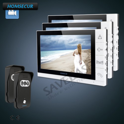 HOMSECUR 9 Wired Video&Audio Home Intercom with Ultra-large Screen Monitor+Russian Local Delivery ...