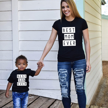 1pcs Mommy & Me Tee Shirt Best Mom Ever Best Son Ever Mama and Son T Shirts Summer Family Matching C
