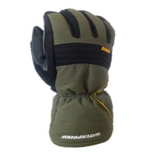 100% Waterproof and Windproof,a heavy duty winter work glove (Army Green,Large).