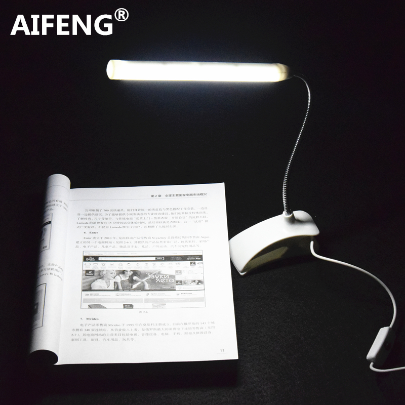 AIFENG led table lamps for study power by usb dc 5v 1a/2a led desk lamp study Light flexible clip on reading desk lamp