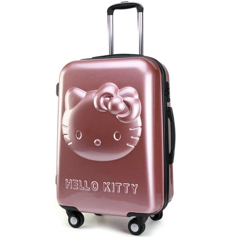 Flickor Hello Kitty Trolleyväska 3D Cartoon Trolley Bagageväska - Väskor för bagage och resor - Foto 4