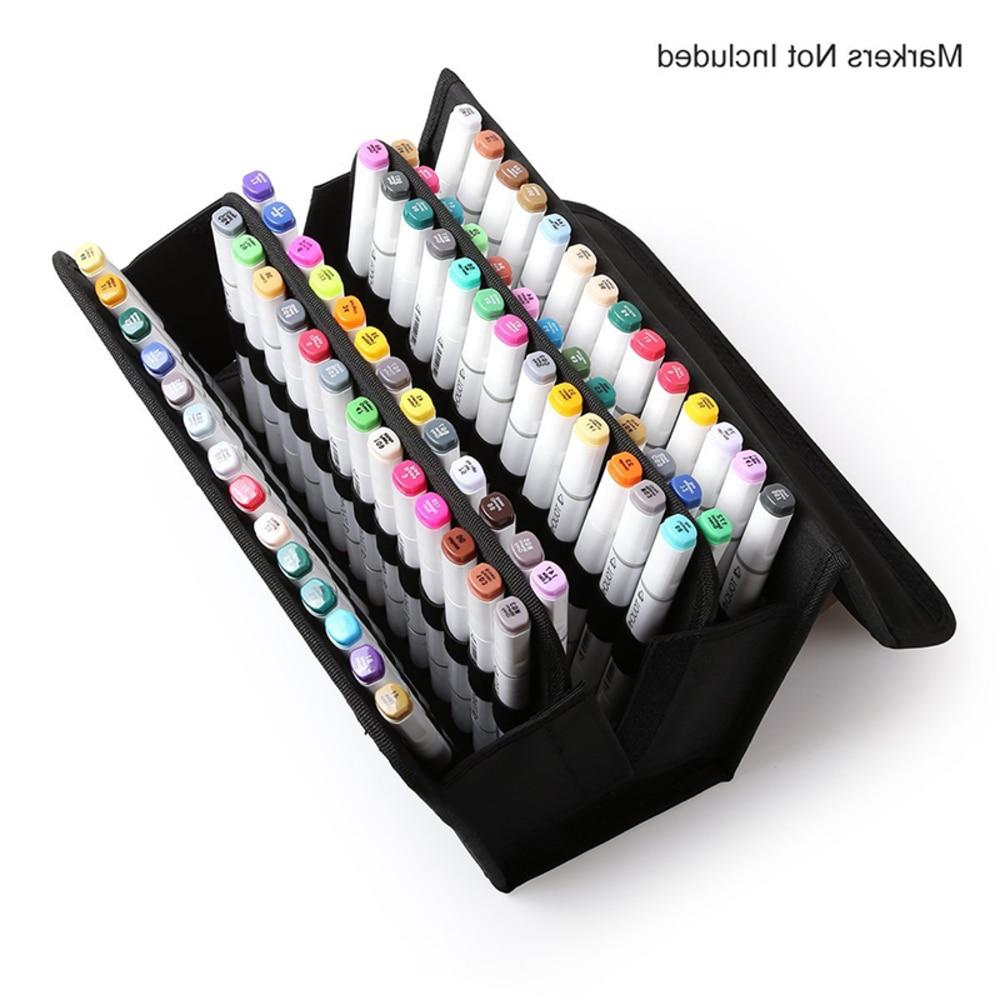 Nouveau Premium qualité Oxford 80 fentes école cas marqueurs sac titulaire marqueur stylo peinture dessiner enfants étudiant tout artiste abordable