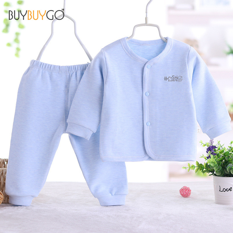 Newborn Baby Spring and Autumn Clothing Set Baby Boy Girl Cotton Striped Cute Cartoon Unisex Infant clothing Set (0-2 Years Old) unisex newborn baby boy