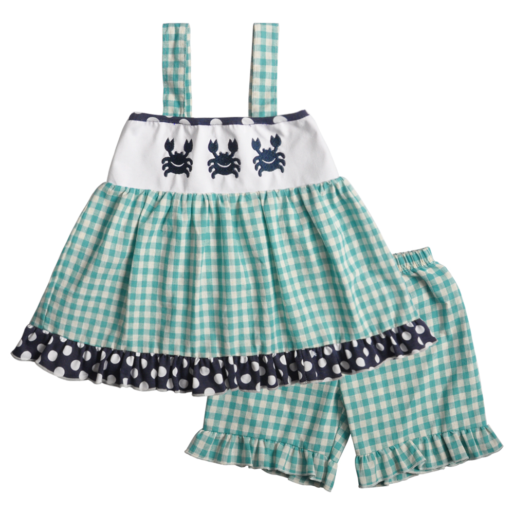Baby Girl Clothes Summer Girl Outfits kids clothes CONICE Crab Pattern Kids Boutique Outfits girls clothesBaby Girl Clothes Summer Girl Outfits kids clothes CONICE Crab Pattern Kids Boutique Outfits girls clothes