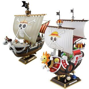 28cm One Piece Action Figure Pirate Ship THOUSAND SUNNY Going Merry Assemble Furnishing Articles Model Holiday Gifts Ornament 12 style one piece diamond building blocks going merry thousand sunny nine snakes submarine model toys diy mini bricks gifts