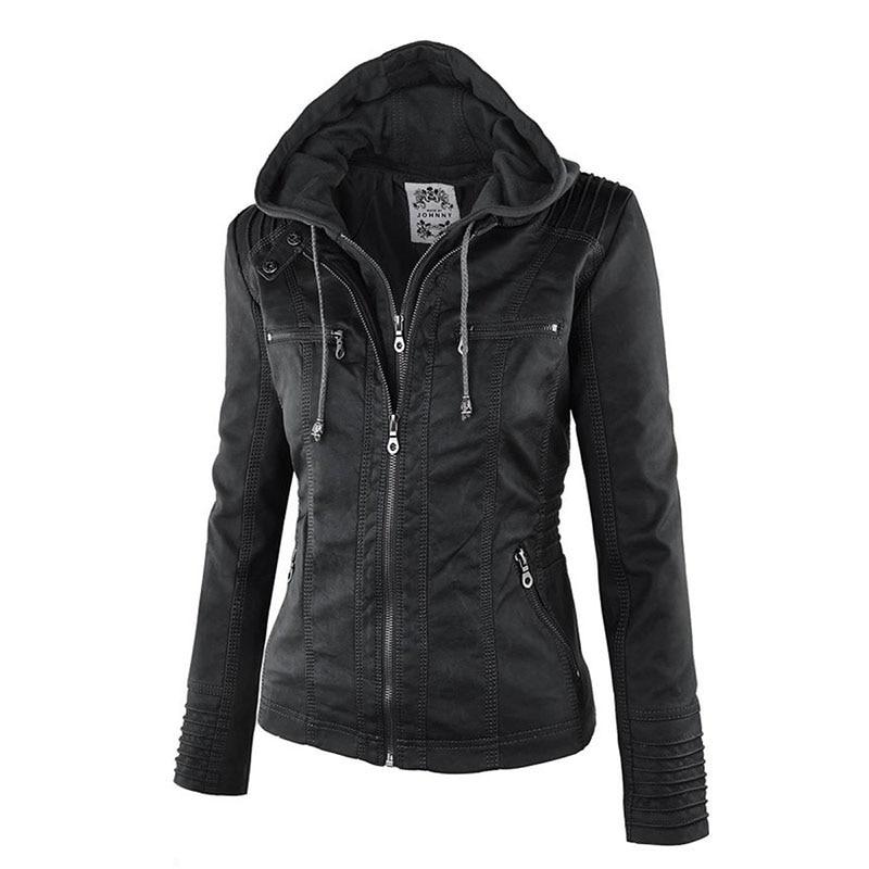 HTB1 X0Sa5 1gK0jSZFqq6ApaXXaB Faux Leather Jacket Women 2021 Basic Jacket Coat Female Winter Motorcycle Jacket Faux Leather Suede PU Zipper Hoodies Outerwear
