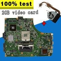 send fan K53SV motherboard GT610M 2GB For ASUS A53S K53S X53S P53S K53SJ K53SM K53SV laptop Mainboard K53SV motherboard test ok