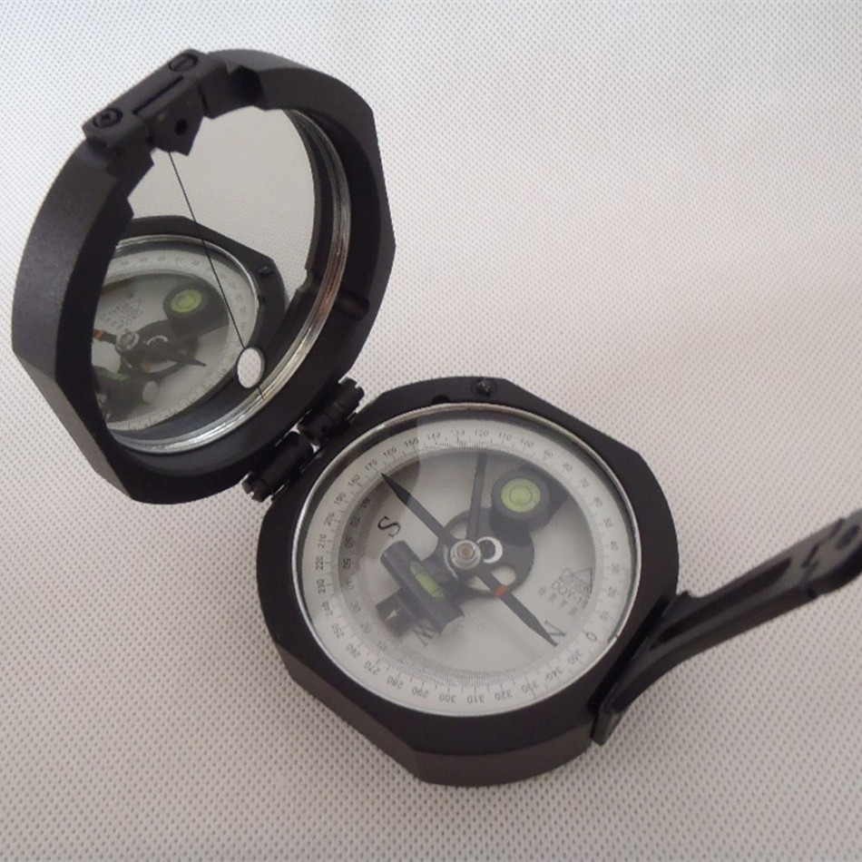 DQY-1 Geology Compass Metal Construction Professional with Liquid-filled Direction Obliquity Upright