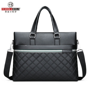 Image 2 - Classic Plaid Design Business Man Bag Vintage Brand Mens Messenger Bag Casual Business Male Shoulder Bags For Male bolsa Hot
