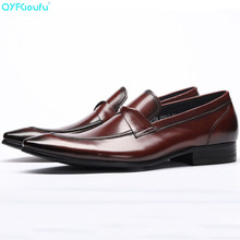Fashion Oxford Business Men Shoes Famous Men Formal Shoes Pointed Toe Luxury Brand Genuine Leather Slip On Dress Shoes christia bella italian green genuine leather men shoes fashion pointed toe slip on men dress shoes party business formal shoes