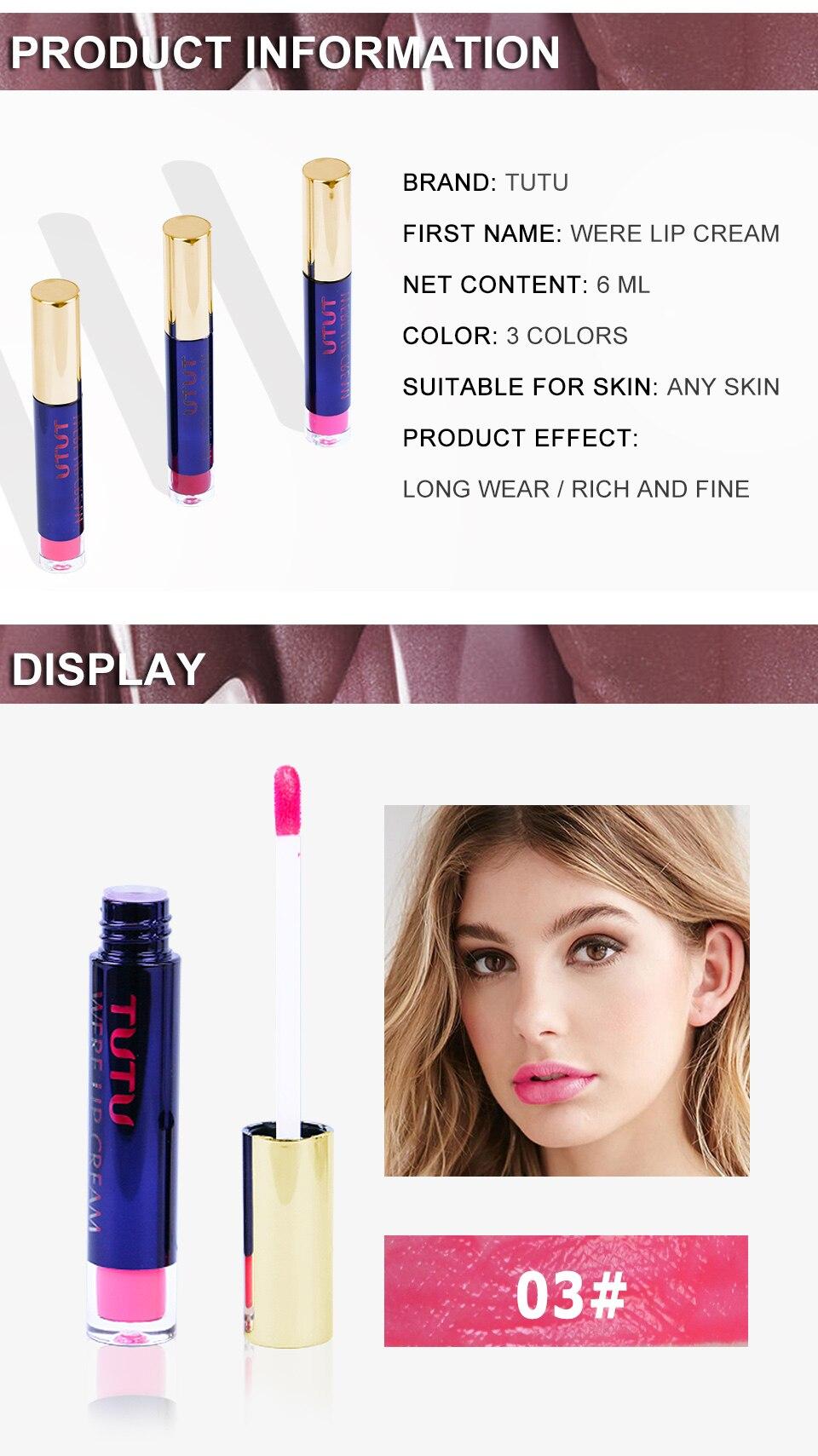 Professional Lip Makeup Matte Lip Gloss Velvet Red Lipstick Liquid Tint Waterproof Moisturizer Full Color Lip Gloss Set Make up 8