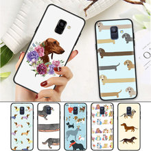 حافظة لهاتف سامسونج جالاكسي A7 A70 A50 A40 A30 A20 A10 A8 A9 A6 2018 Plus A20E A6 + A8 + Dachshund Dog(China)