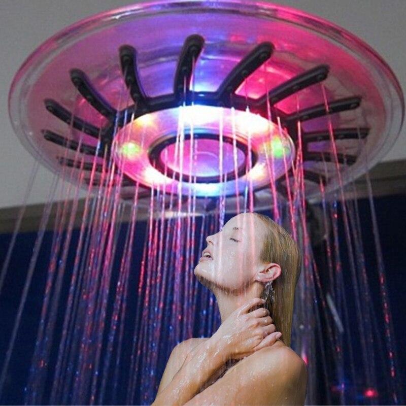 8 inch ABS led אמבט חדר מקלחות עם צבעים לקפוץ שינוי סוג