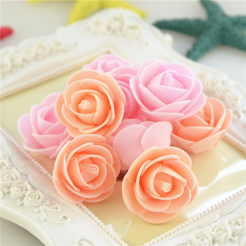 50pcs/Bag Multicolor Mini Rose Head Artificial Flowers For Wedding And Festival Party 10