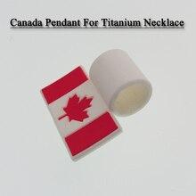 America flag pendant Canada Flag pendat for titanium Braided sports necklace(China)
