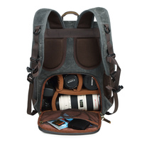Batik Canvas Photography Camera Backpack Tripod Bag Padded Water resistant Lens Case for Nikon/Canon/Sony SLR Camera Accessories