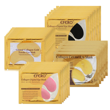 efero 10pcs=5pair Beauty Crystal Collagen Eye Mask Patches Moisture Gel Masks Anti- Aging Firming Face Skin Care Pad