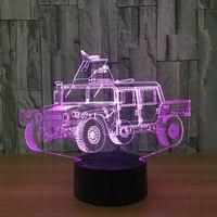 3D LED Car Model Animation Armored Car Toys LED Lamp LED Lamp Creative Toy Model Interior