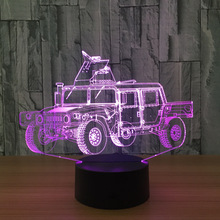 3D LED Car Model Animation Armored Car Toys LED Lamp LED Lamp Creative Toy Model Interior Decoration Gifts