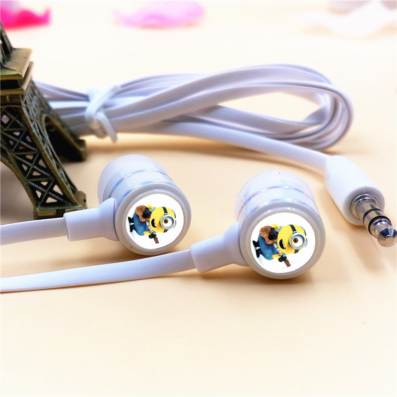 Childrens Day Gift Despicable Me Minions In-ear Earphone 3.5mm Stereo Earbuds Phone Music Game Headset for Iphone Samsung MP3