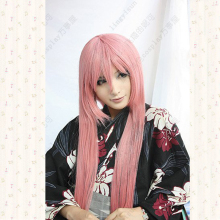 цена на VOCALOID LUKA Long Pink Straight Synthetic Hair Cosplay Wig 100cm Costume Party Wigs + Free Wig Cap