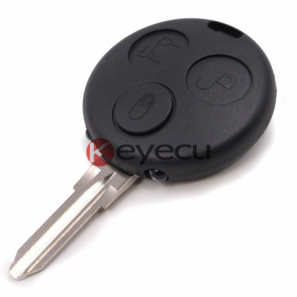 New  Keyless Entry Remote Car Key  Fob 3B for Benz Smart Fortwo Forfour City With 2 Infrared Lights+Uncut Blade