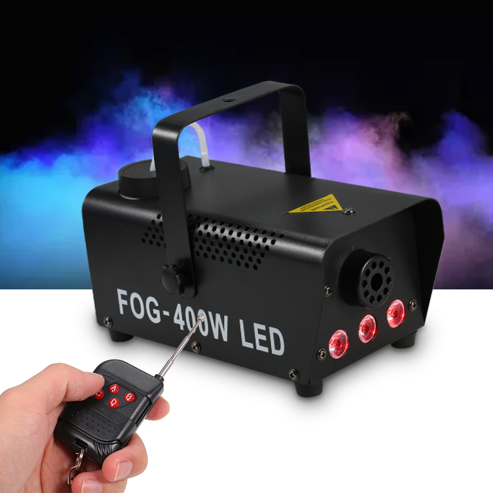 400W RGB LED Fog Light Wireless Control Smoke Machine Fogger Stage Light Wedding Party Stage Perform Smoking Ejector Dj Light
