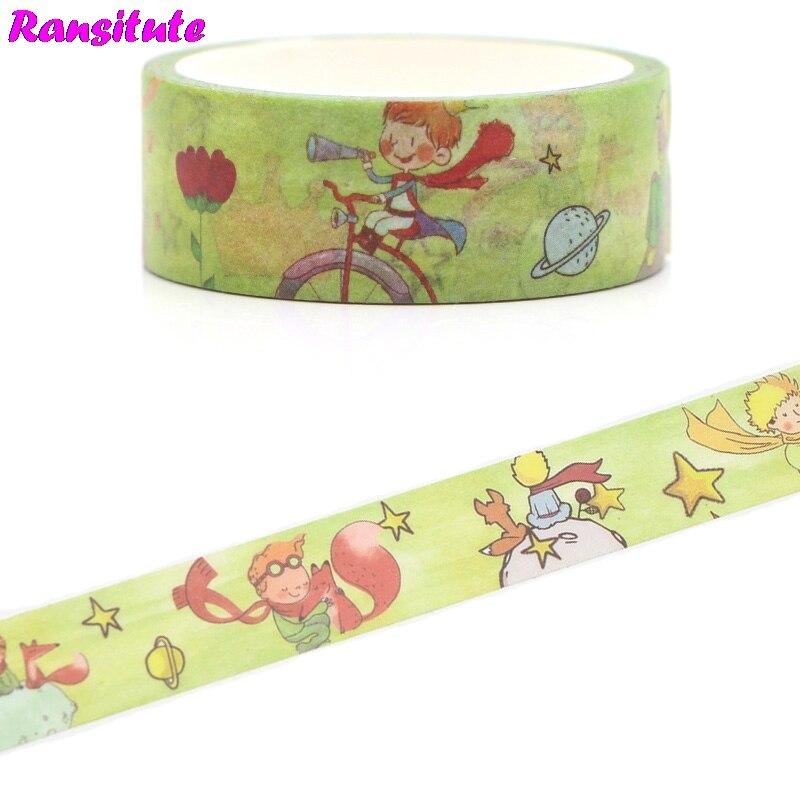 Ransitute R382 Little Prince Handbook Washi Tape DIY Decorative Paper Tape Color Decoration Detachable Sticker