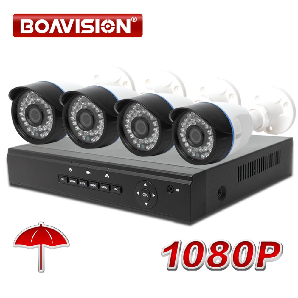 4CH 1080P POE NVR System kit Network Security Home Video Surveillance Bullet 4 Channel 1080P NVR CCTV 2MP IP Camera System Kit work in progress сандалии