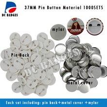 Hot DIY  Components 1.5″ 37mm 1000sets  Plastic Pinback Badge Material