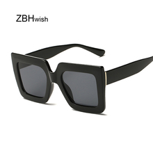Vintage Oversized Square Sunglasses Women Brand Designer Luxury Retro Black Frame Sun Glasses Female UV400 Shades
