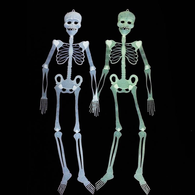 2setlot scary halloween skeleton decoration glow in dark halloween props decoration haunted house mask