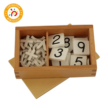 Baby Toy Montessori Material Arithmetic Signs Box Math Teaching Aids Learning Numbers Children