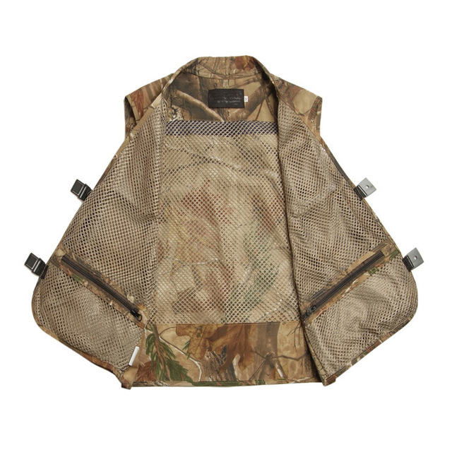 Grandwish Mens Camo Photographer Collarless Vests Multi Pockets Male Jacket Sleeveless Protection Camouflage Waistcoat ,DA759