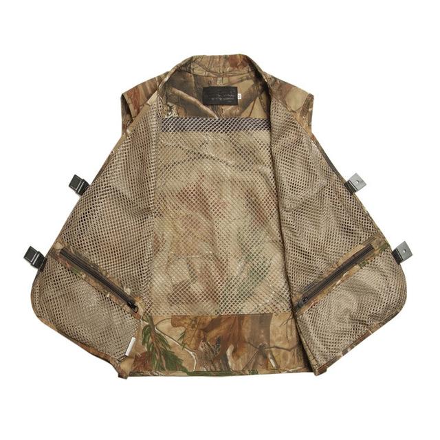 Grandwish Mens Camo Photographer Collarless Vests Multi Pockets Male Jacket Sleeveless Protection Camouflage Waistcoat ,DA759
