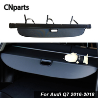 CNparts Car Rear Trunk Cargo Cover For Audi Q7 2016 2018 Car Styling Black Security Shield Shade Auto accessories