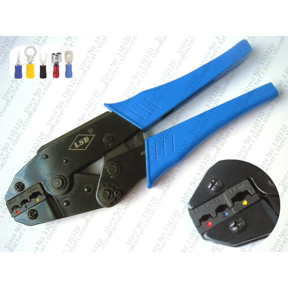 European-style Mini Terminal Crimping Tool LS-03C For Insulated Terminals 0.5-6mm2