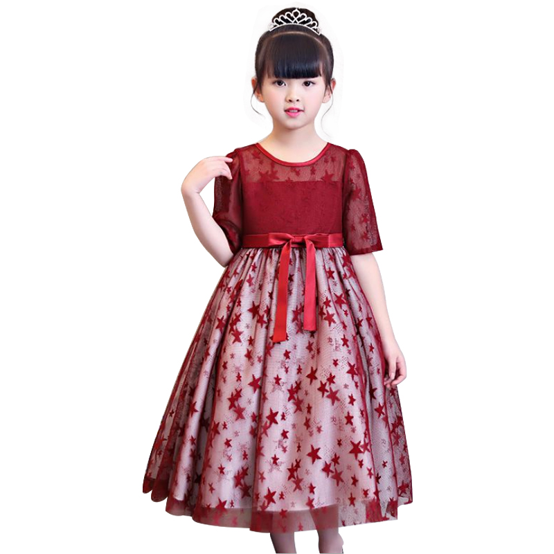 Kids Clothes Birthday party Dress for Girls Flower Dress Children Wedding Party Dress Princess evening dresses brwcf flower girls dress for party wedding birthday 2017 summer princess dresses leopard printing children clothes 2 8years