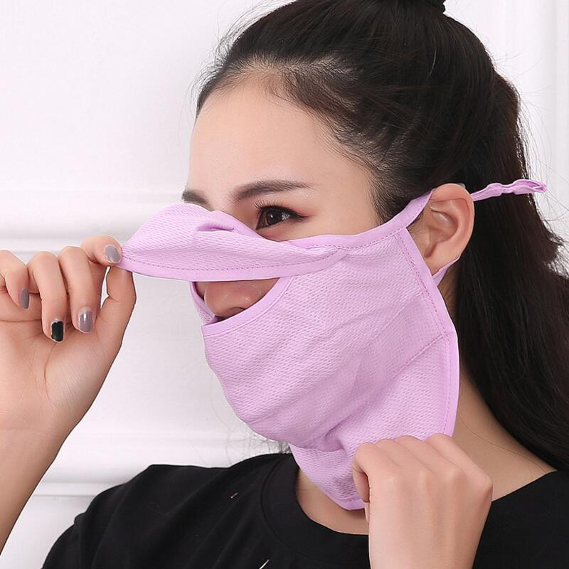 Summer Women Sunscreen Mask Bacterin Proof Mask PM2.5 Filter Protection Cycling Wear Windproof Anti-Dust Mouth Face 2020 New