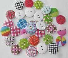 I bottoni artigianali assortiti WBNVWG mescolano 20MM 120 pezzi a forma di scatola di legno con decorazioni a forma di scrapbooking