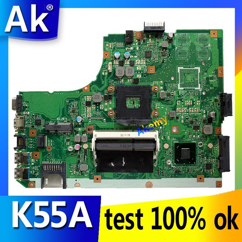 AK K55A Laptop Motherboard For ASUS K55A A55V K55VD K55V K55 Test Original Mainboard GM