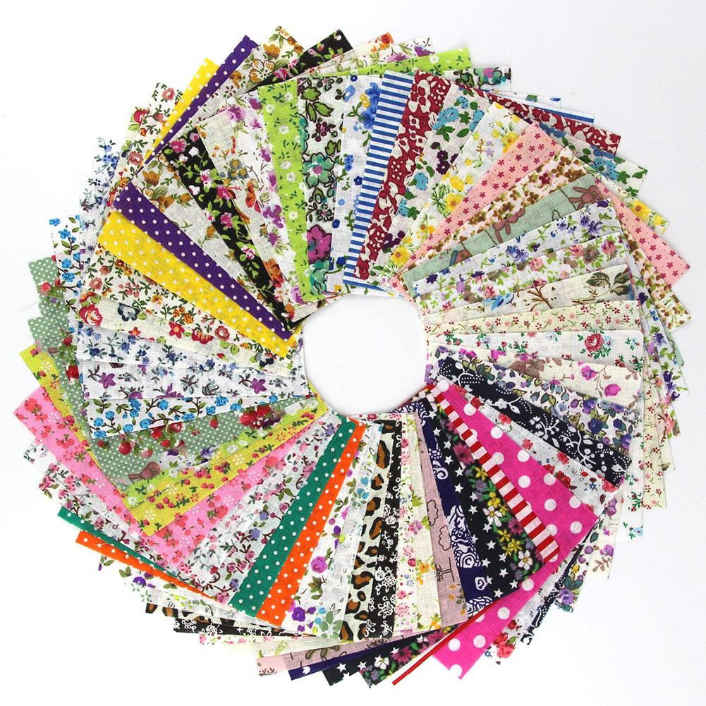 <font><b>50</b></font> pieces 10 cm x 10 cm charm pack cotton fabric patchwork cloth sew diy quilting #30 image