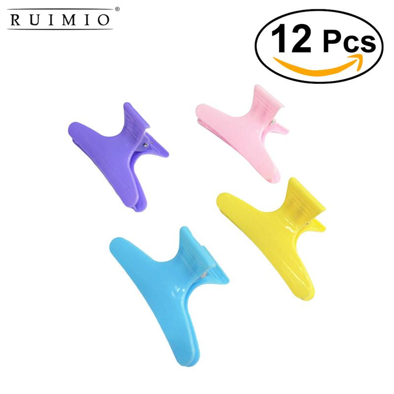 RUIMIO Beauty Hair Claw Salon Styling Tools Plastic Colorful Hair Clips Hairdressing Too ...
