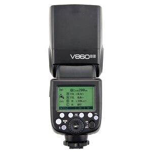 Image 5 - Godox V860II S V860II C 860ii n V860II F V860II O gn60 ttl hss li ion bateria speedlite flash para sony nikon canon olympus fuji