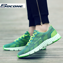 SOCONE 2016 New Brand Running Shoes outdoor light sports shoes men women Athletic Training run sneakers comfortable breathable