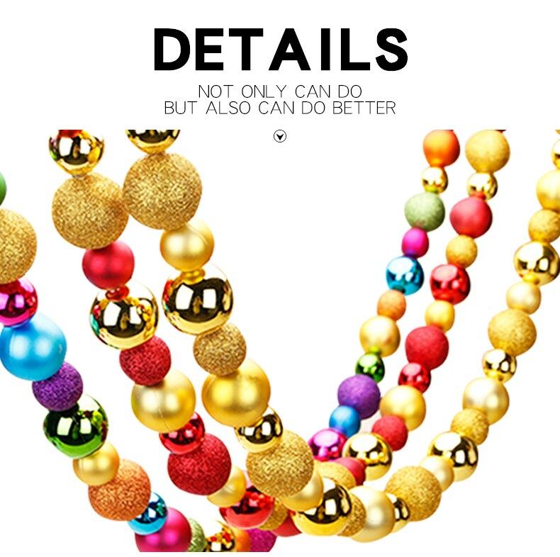 Inhoo creativo Navidad bolas strung Navidad partido decoración ...