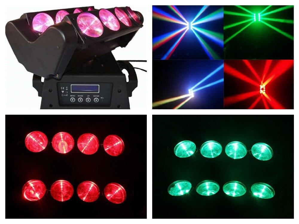 2pcs/lot, Beam LED spider light RGBW or White 8x10W Moving head Quad Spider Lights Disco club china party dj stage bar wedding