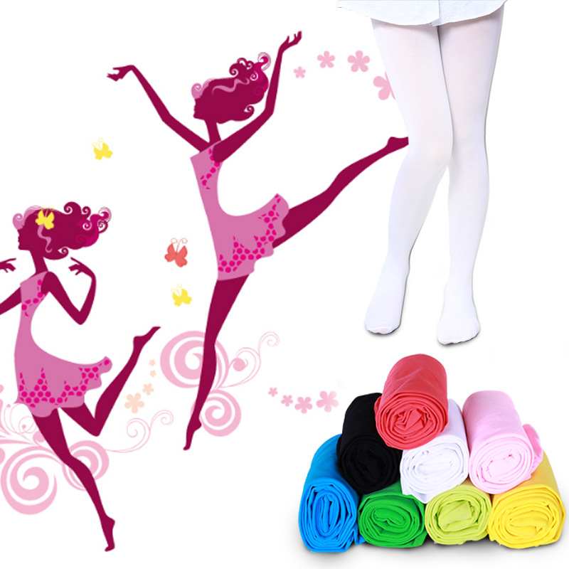 купить Spring Autumn Candy Color Pantyhose Ballet Dance Tights for Girls Stockings Children Velvet Solid White Pantyhose Girls Tights по цене 82.96 рублей