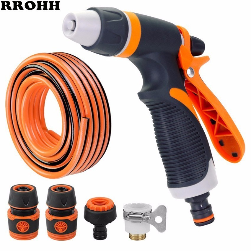 Spray Lawn Watering Multi-function Car Wash High Pressure Durable Hand-held Hose Sprinkle Water Nozzle Garden Irrigation system