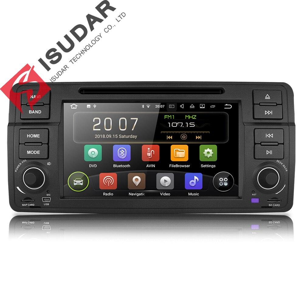 Isudar Voiture lecteur multimédia Android 8.1.0 GPS 1 Din DVD Automotivo Pour BMW/E46/M3/MG/ZT /Rover 75 Wifi Radio FM 4 Noyaux 16 GB DSP